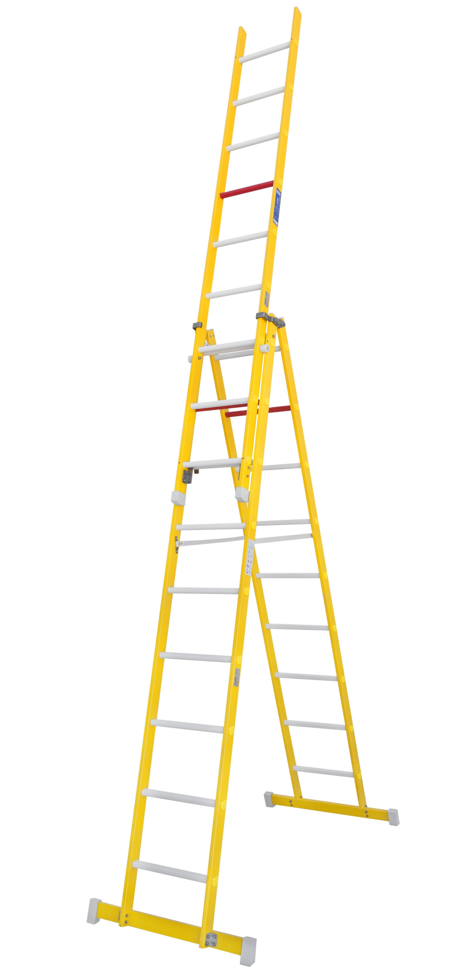 Fibreglass Double-sided Ladder With A Third Fly Section