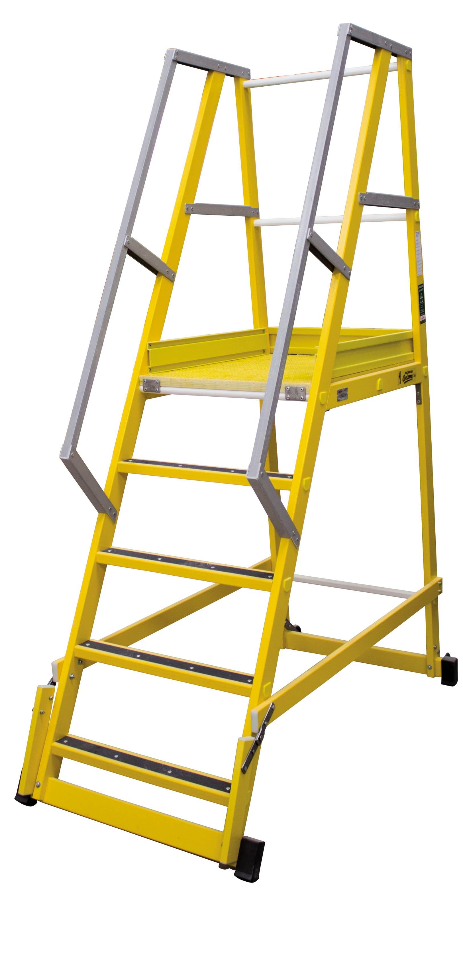 Fibreglass Rolling Platform Ladder 65º