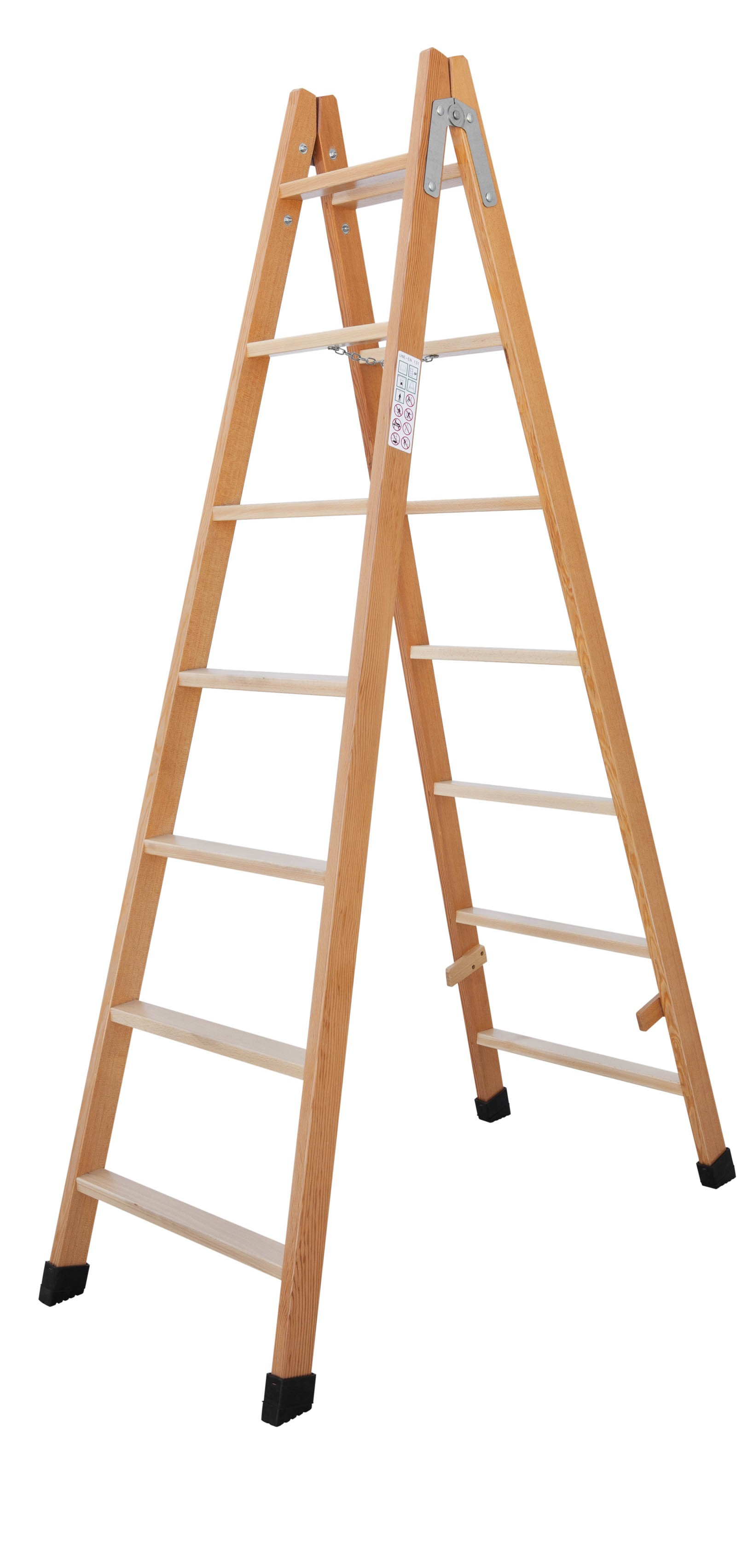 Timber Double-sided Stepladder