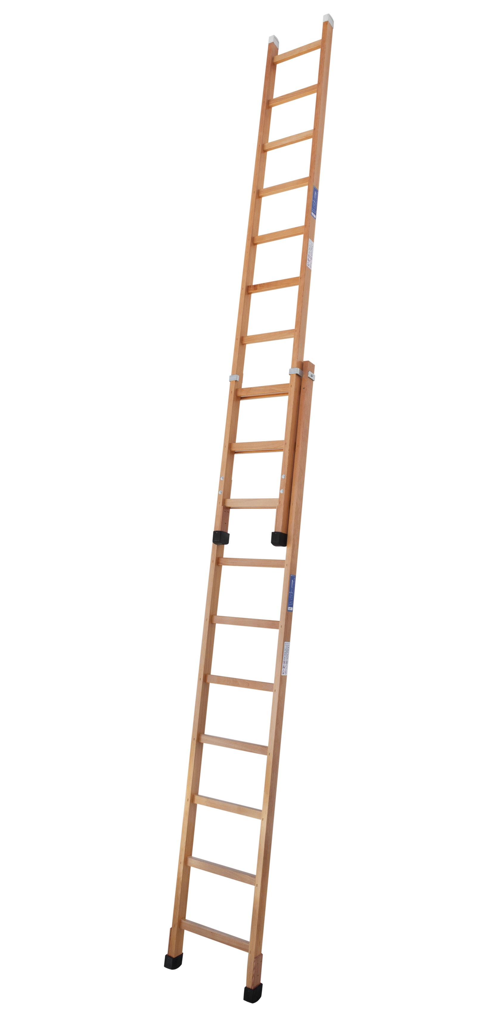 Push-up Timber Extension Ladder