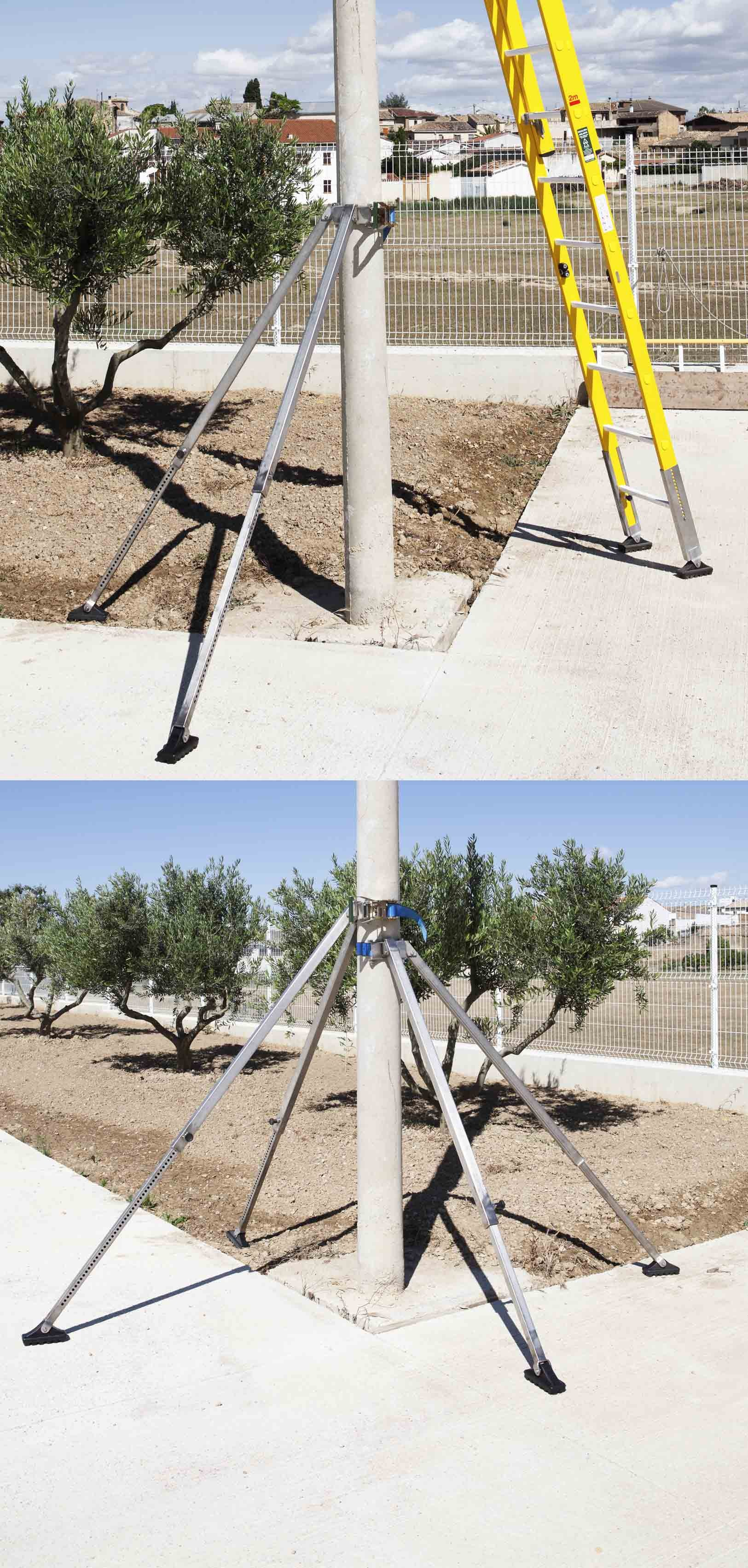 Wooden Pole Safety Support Legs