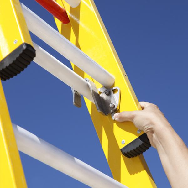 Locking System On Push-up Ladders