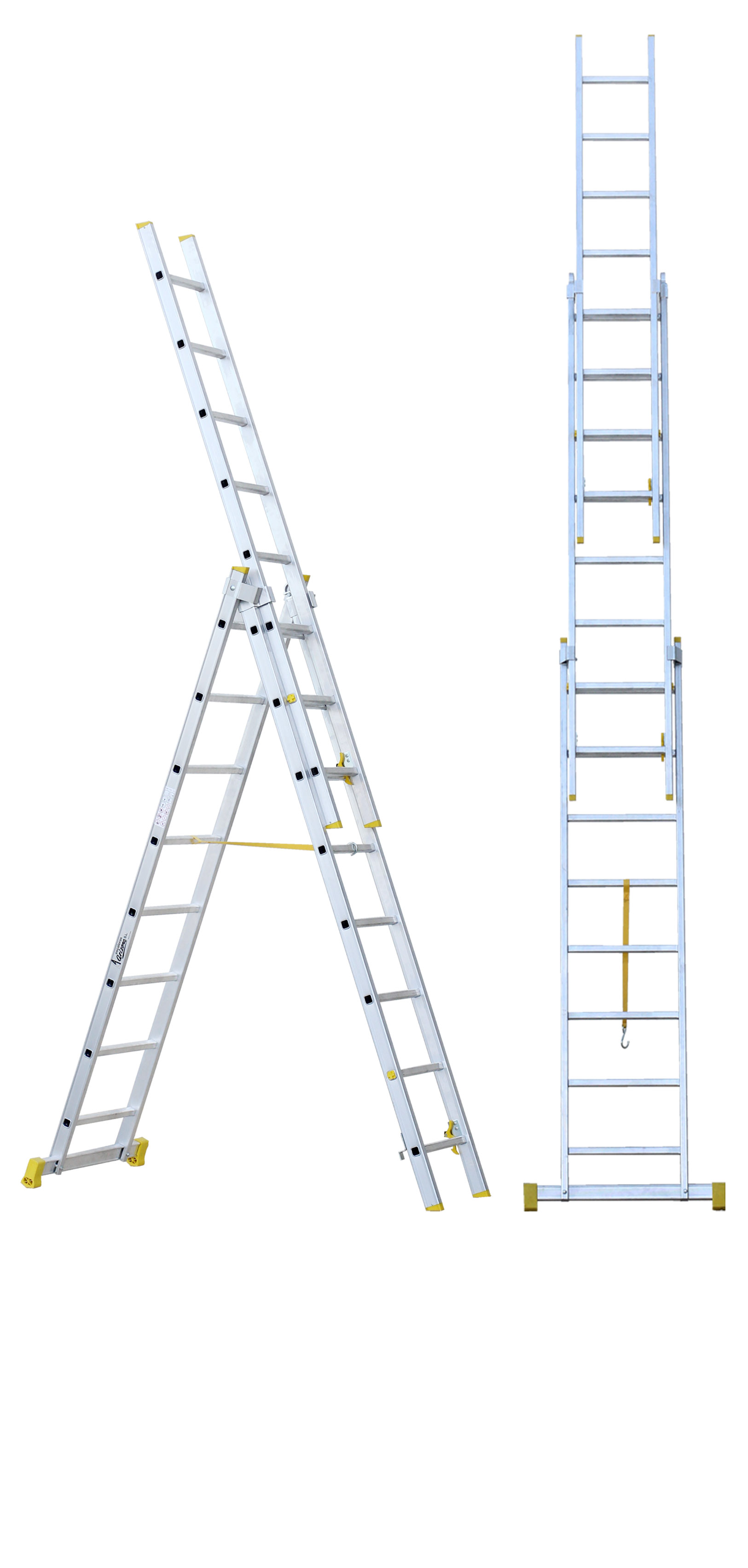 Three-section Push-up Stepladder