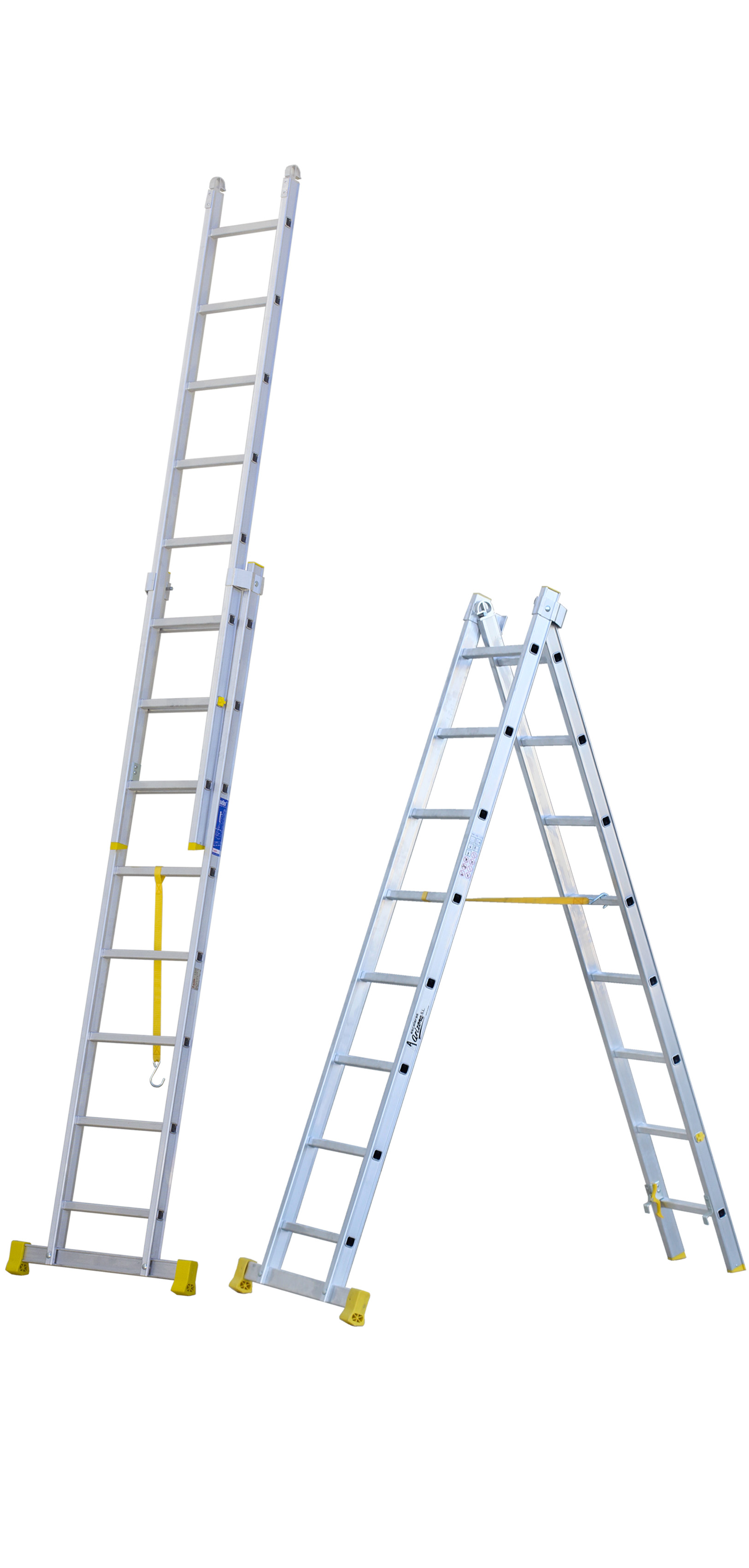 Two-section Push-up Stepladder