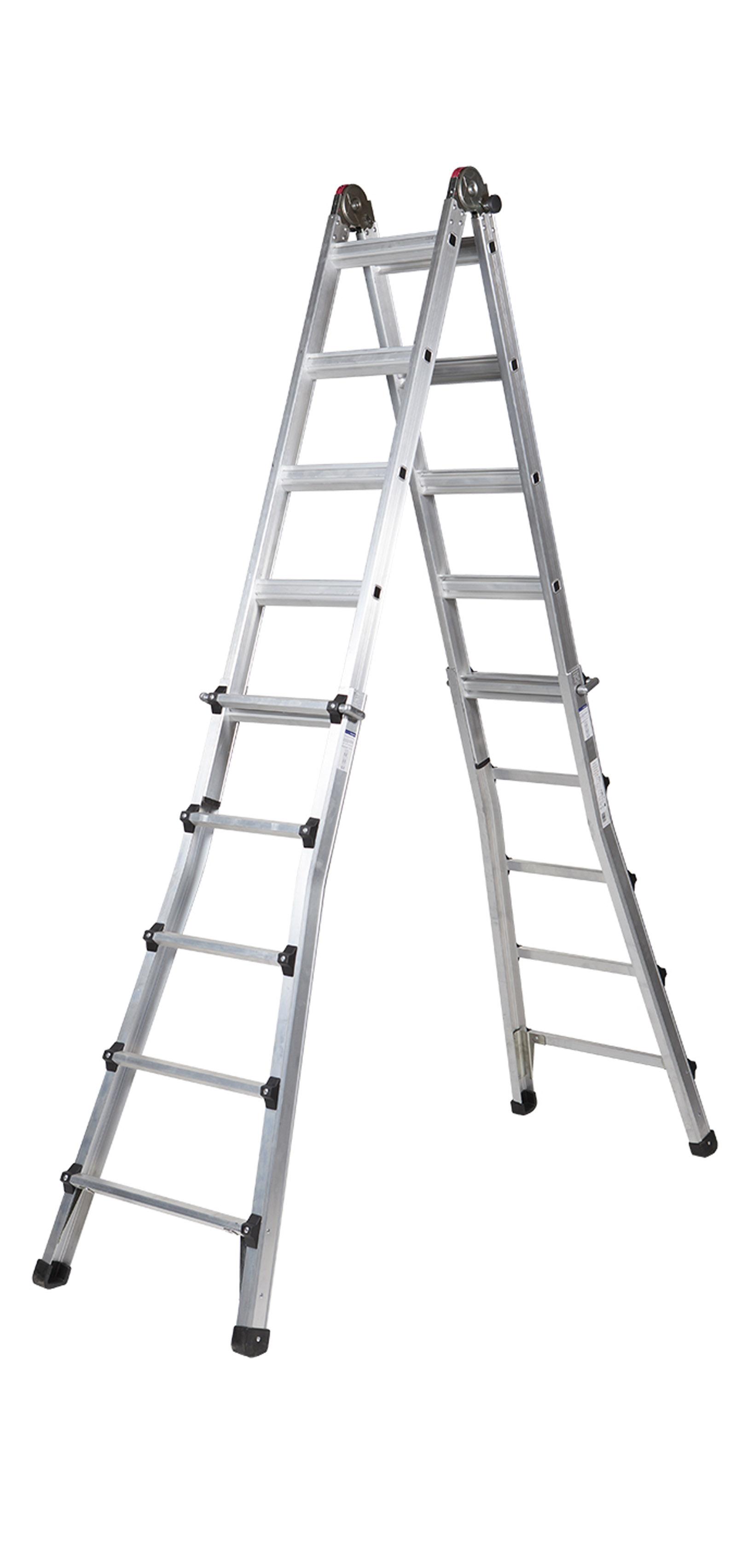 Aluminium Double-sided Telescopic Ladder