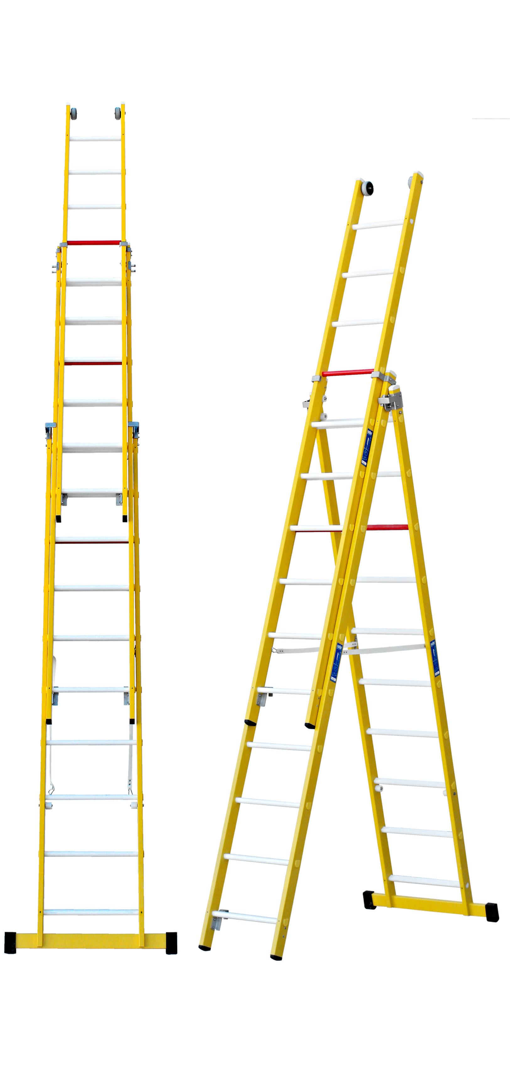 Fibreglass Three Section Combination Ladder